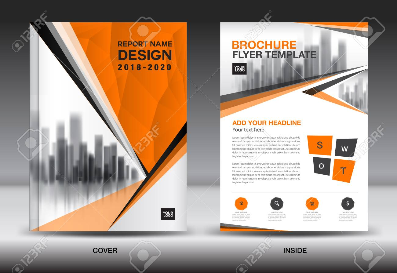 Annual report brochure flyer template orange cover design business annual report brochure flyer template orange cover design business advertisement magazine ads cheaphphosting Images