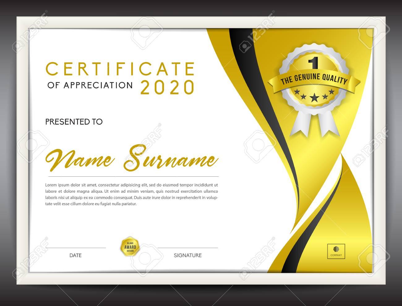 Certificate template vector illustration diploma layout in a4 certificate template vector illustration diploma layout in a4 size gold business flyer design yadclub Images