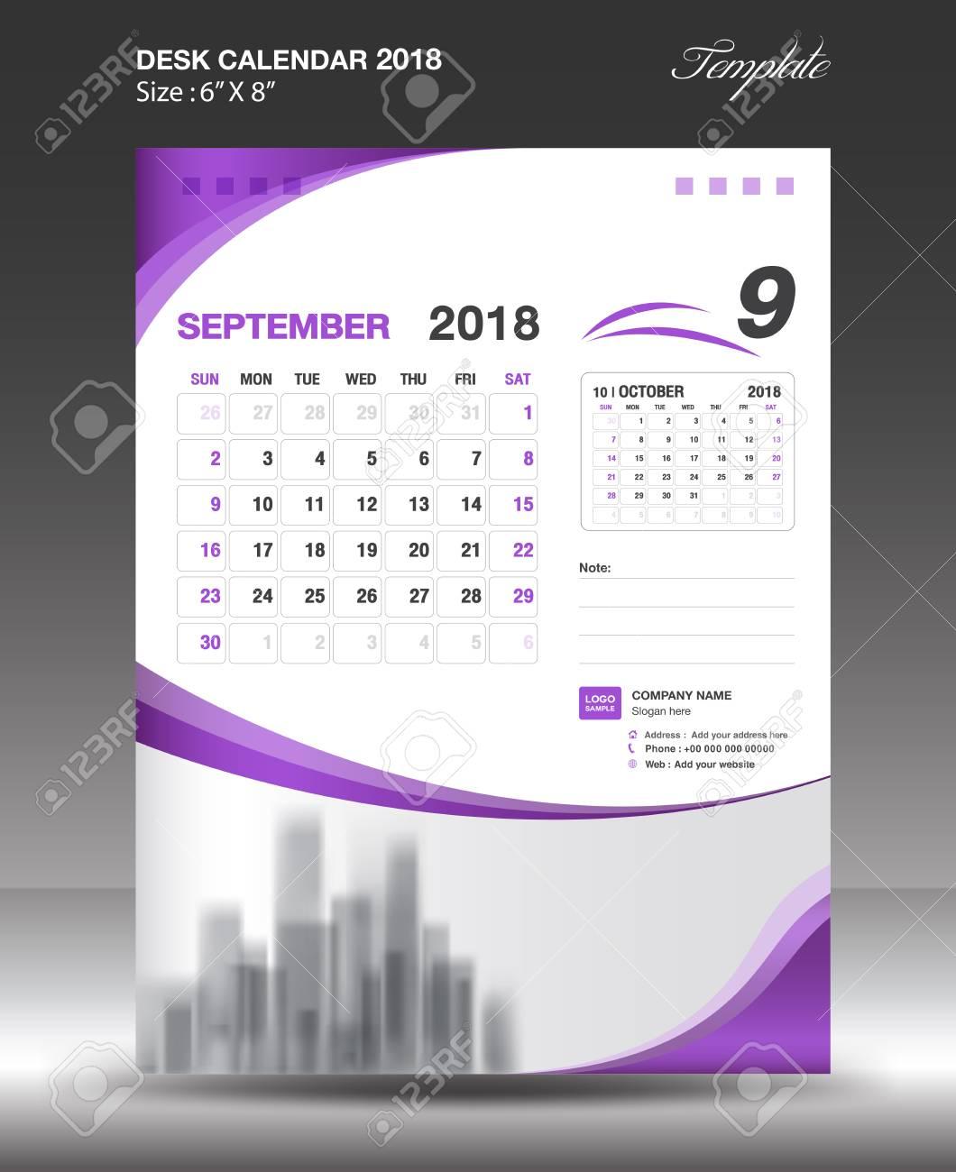 September 2018 desk calendar template design royalty free cliparts september 2018 desk calendar template design stock vector 89303911 saigontimesfo