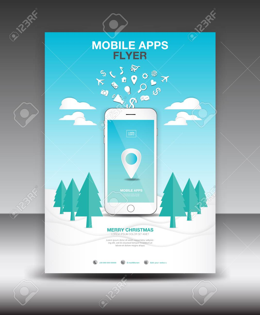 Mobile apps flyer template business brochure flyer design layout mobile apps flyer template business brochure flyer design layout smartphone icons mockup application wajeb Gallery