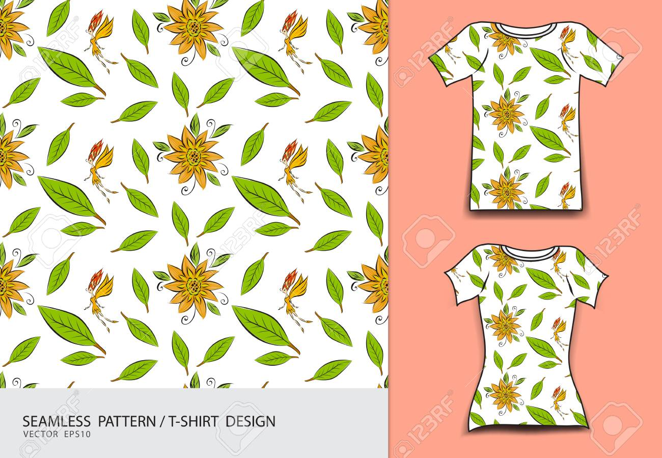 Seamless Pattern Vector Illustration T Shirt Design Cute Little Royalty Free Cliparts Vectors And Stock Illustration Image 93724191