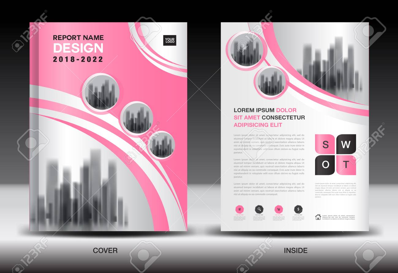 Annual Report Cover Design Brochure Flyer Template Business - Company profile brochure template