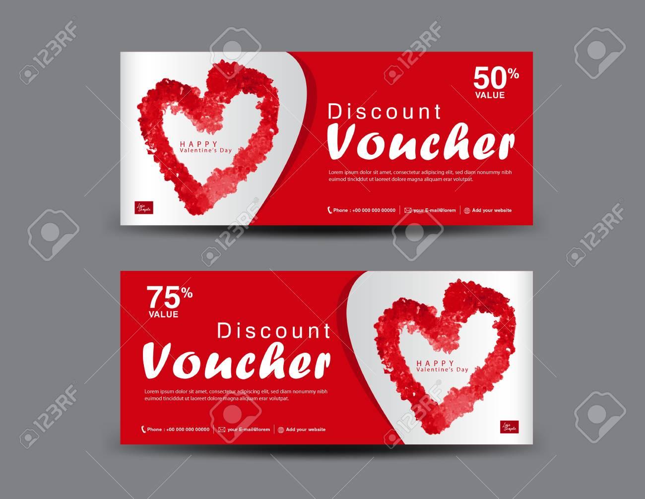 valentine s day discount voucher gift voucher template layout