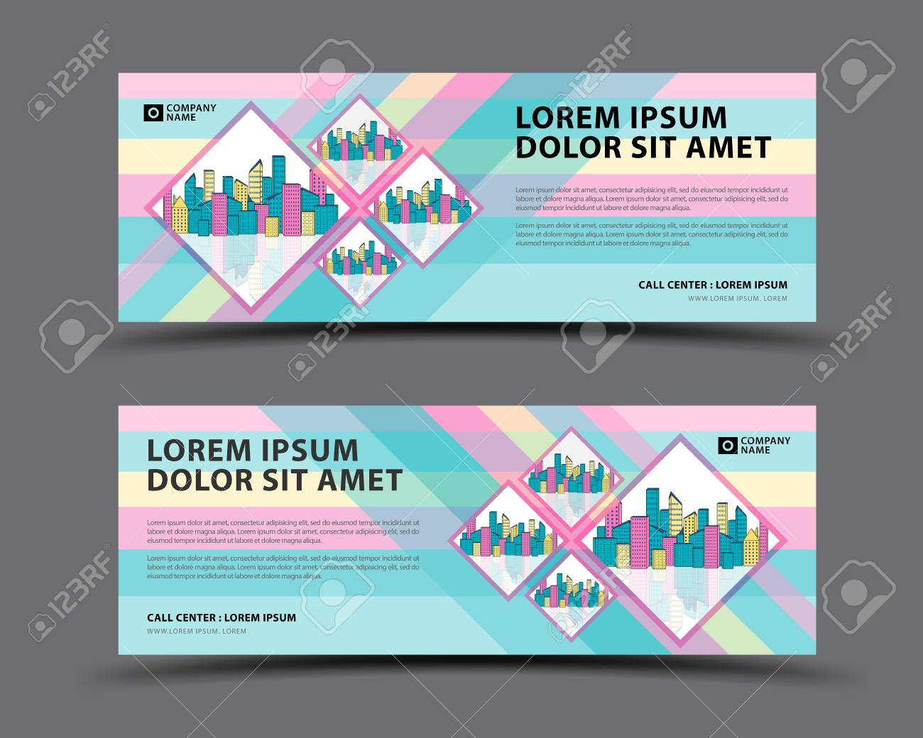banner template vector pastel background web banner template