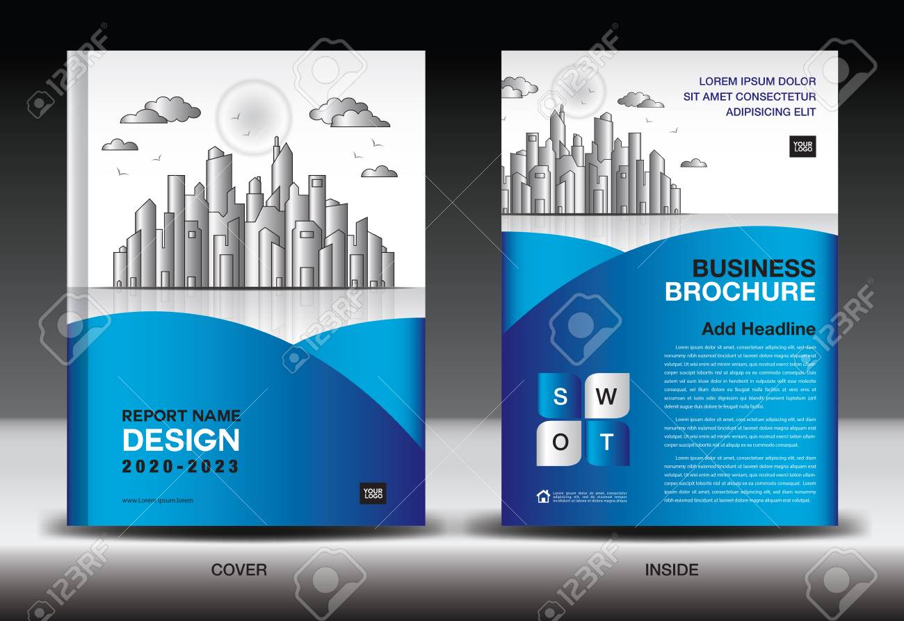 Descargar Epub Blue Cover Template With City Landscape ...