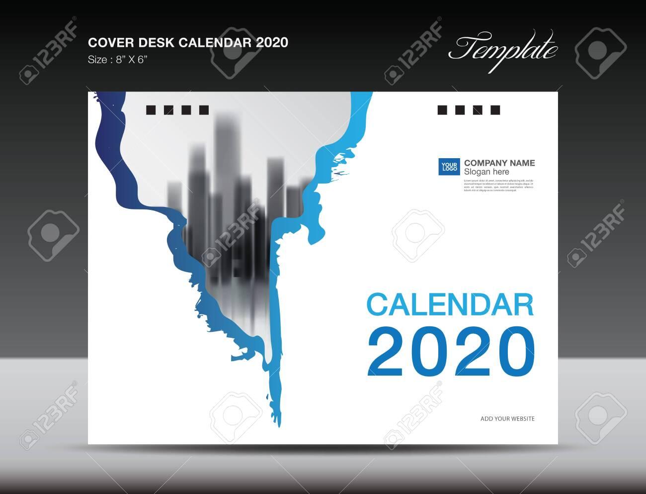 Cover Desk Calendar 2020 Design, flyer template, ads, booklet,
