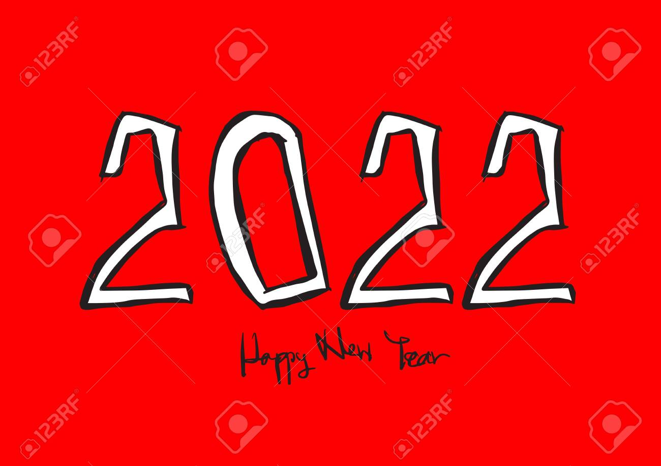 2022 Calendar Cover.2022 Text Design Vector Illustration Happy New Year Calendar Royalty Free Cliparts Vectors And Stock Illustration Image 131811570