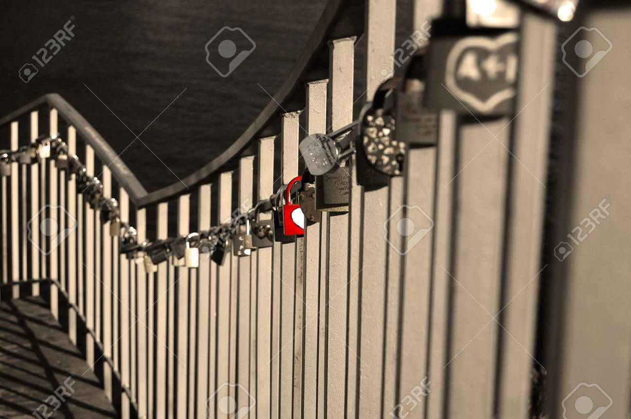 fence with lock Stock Photo - 4301233