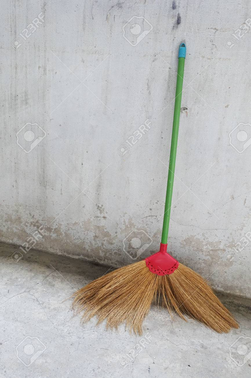 broom wallpaper cement stock photo picture and royalty free image