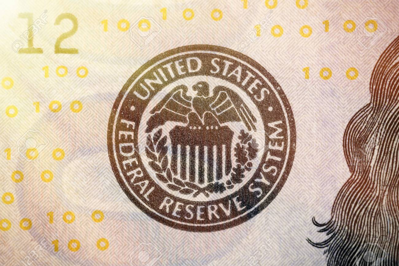 United States Federal Reserve System Symbol From Hundred Dollar