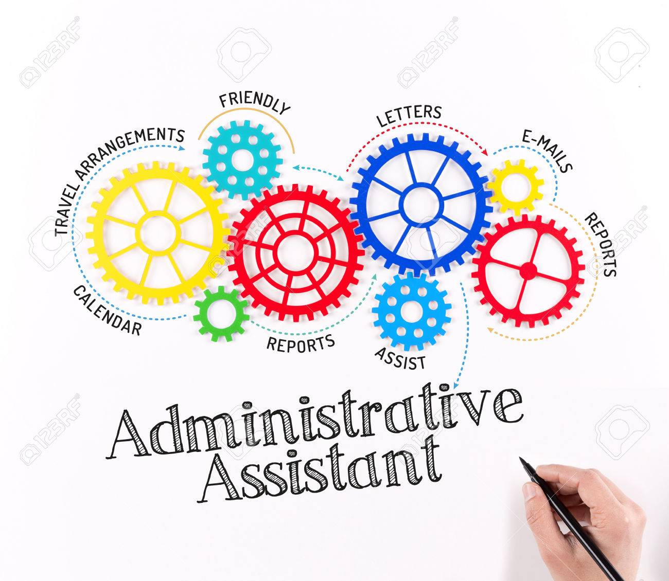 Exceptional Administrative Assistant Mechanism Stock Photo   57533953  Administrative Assistant