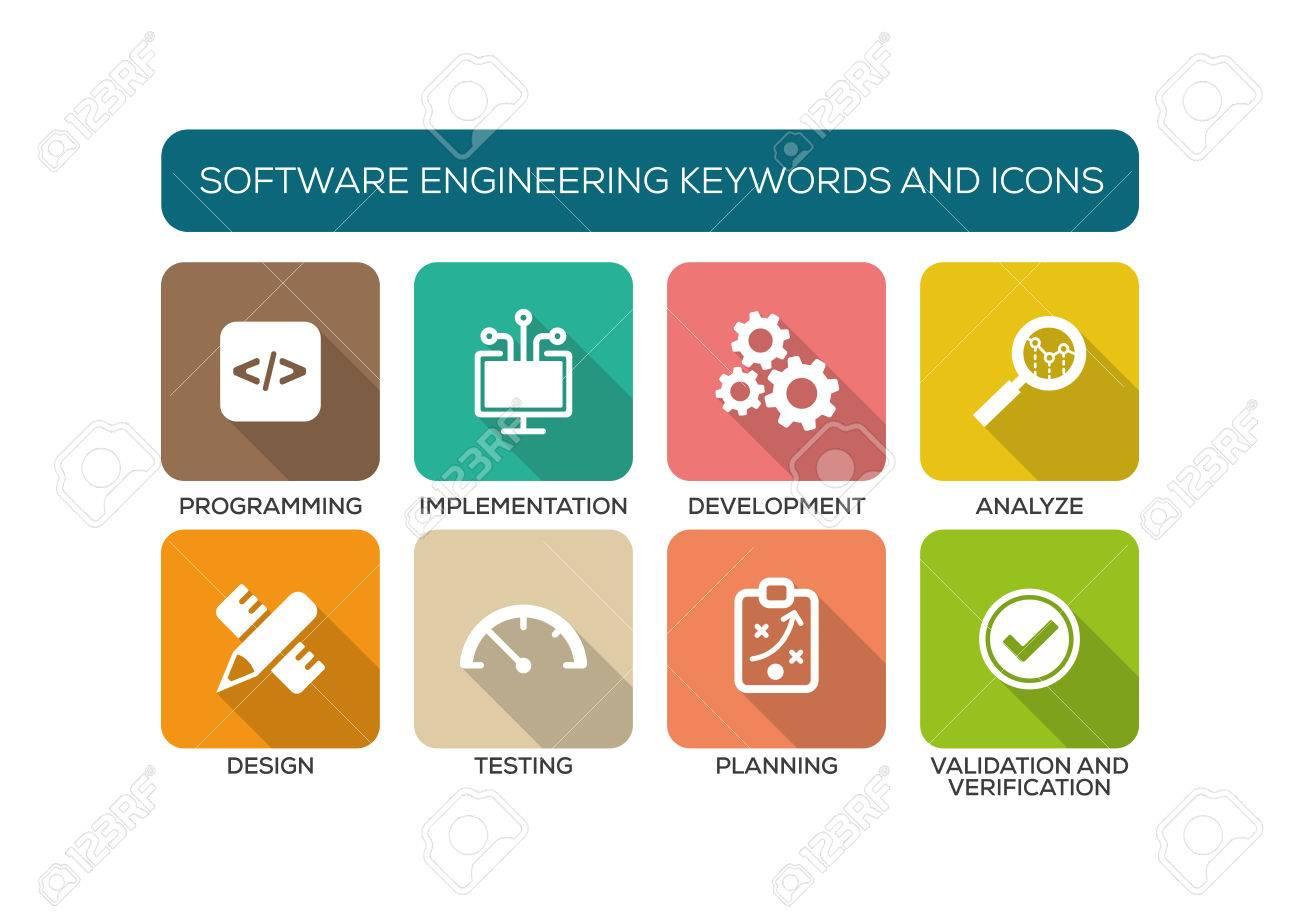Software Engineering Flat Icon Set