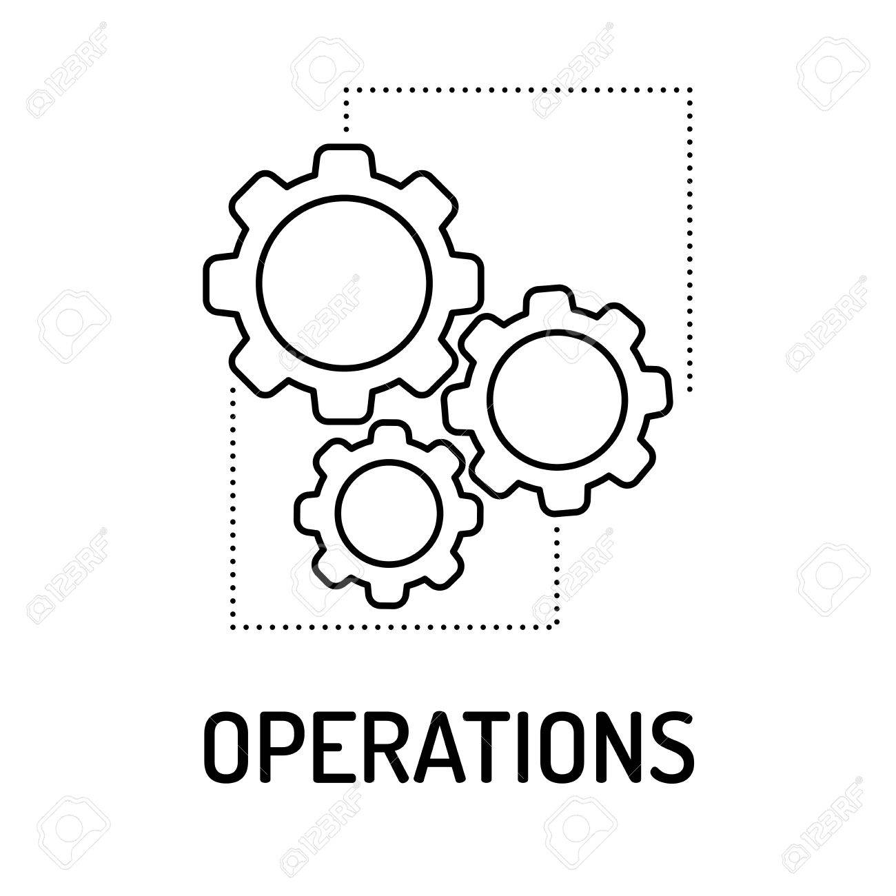 operations line icon royalty free cliparts vectors and stock