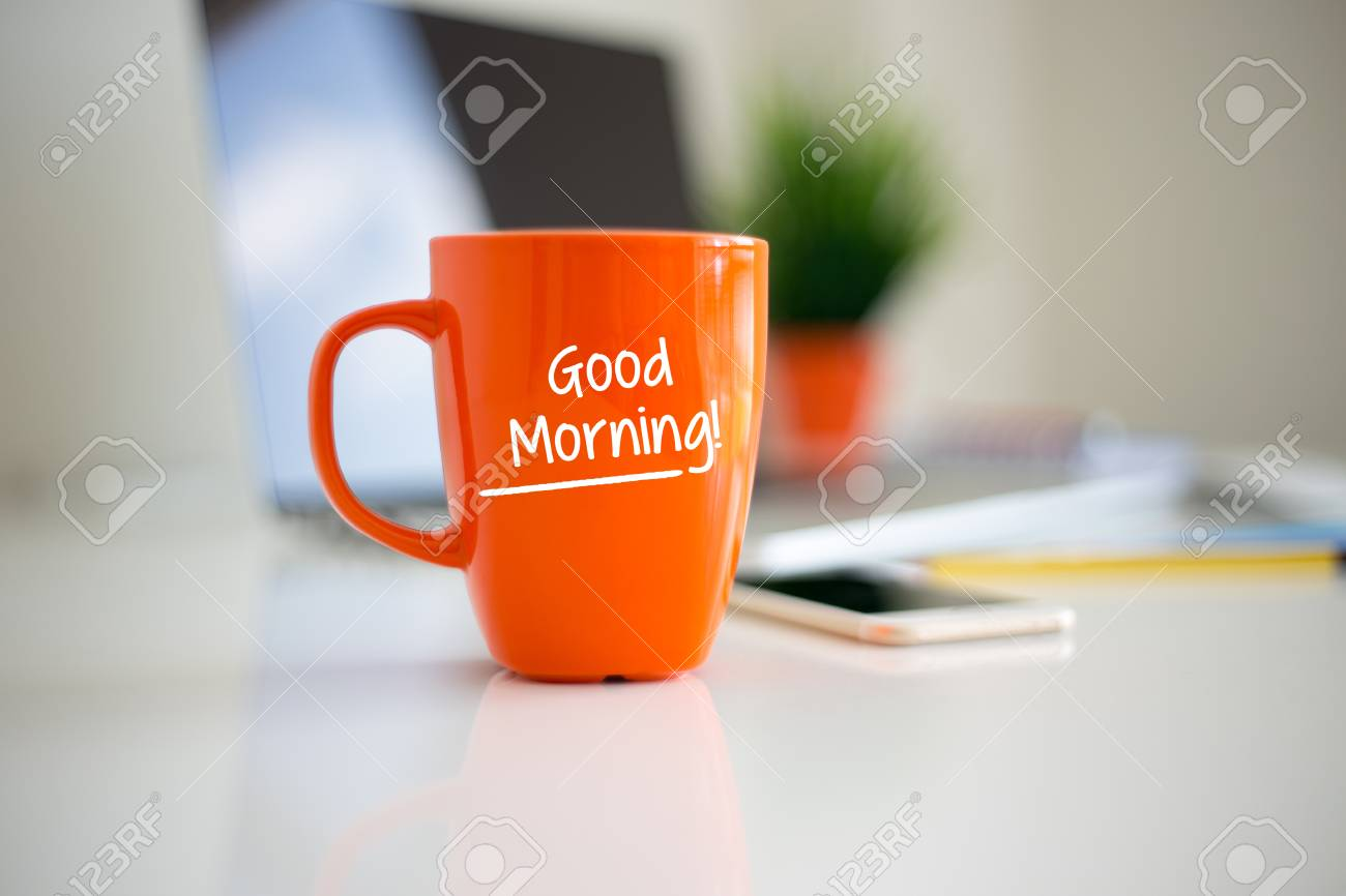 Good Morning Coffee Cup Concept Stock Photo Picture And Royalty