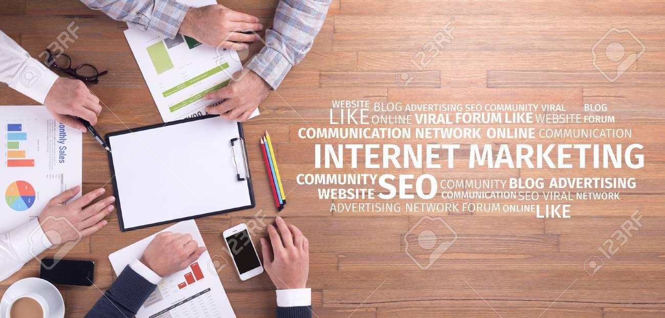 Business Concept: Internet Marketing Word Cloud - 69953598