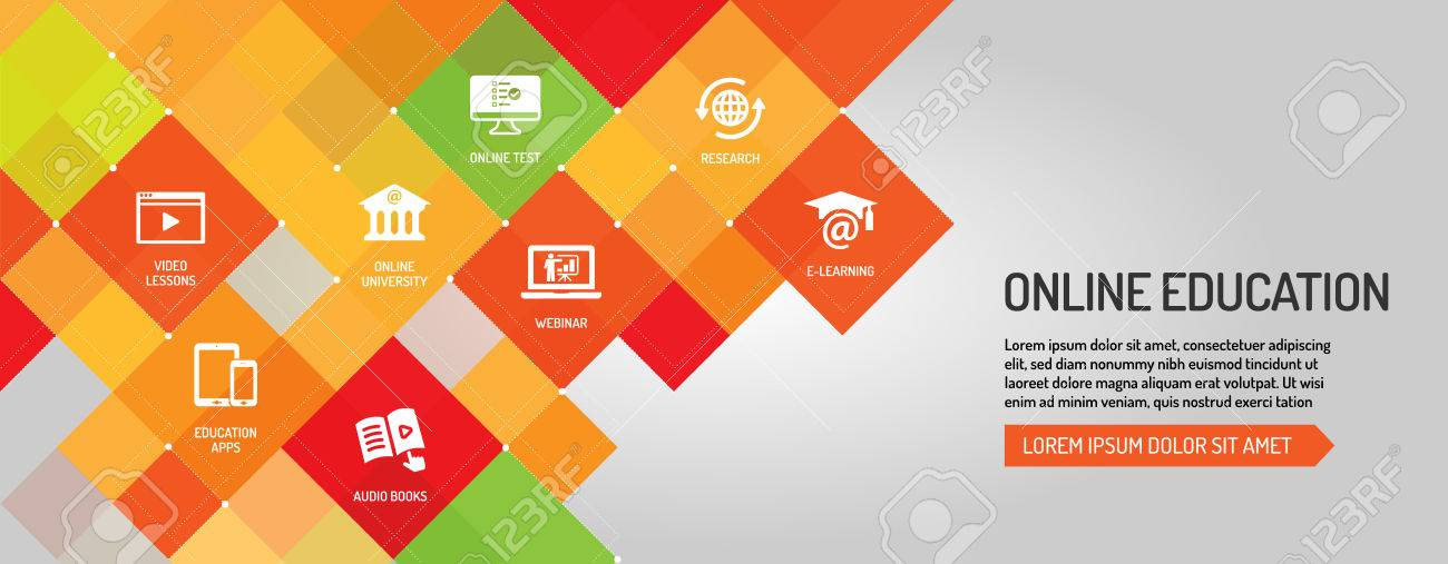 online education banner royalty free cliparts vectors and stock