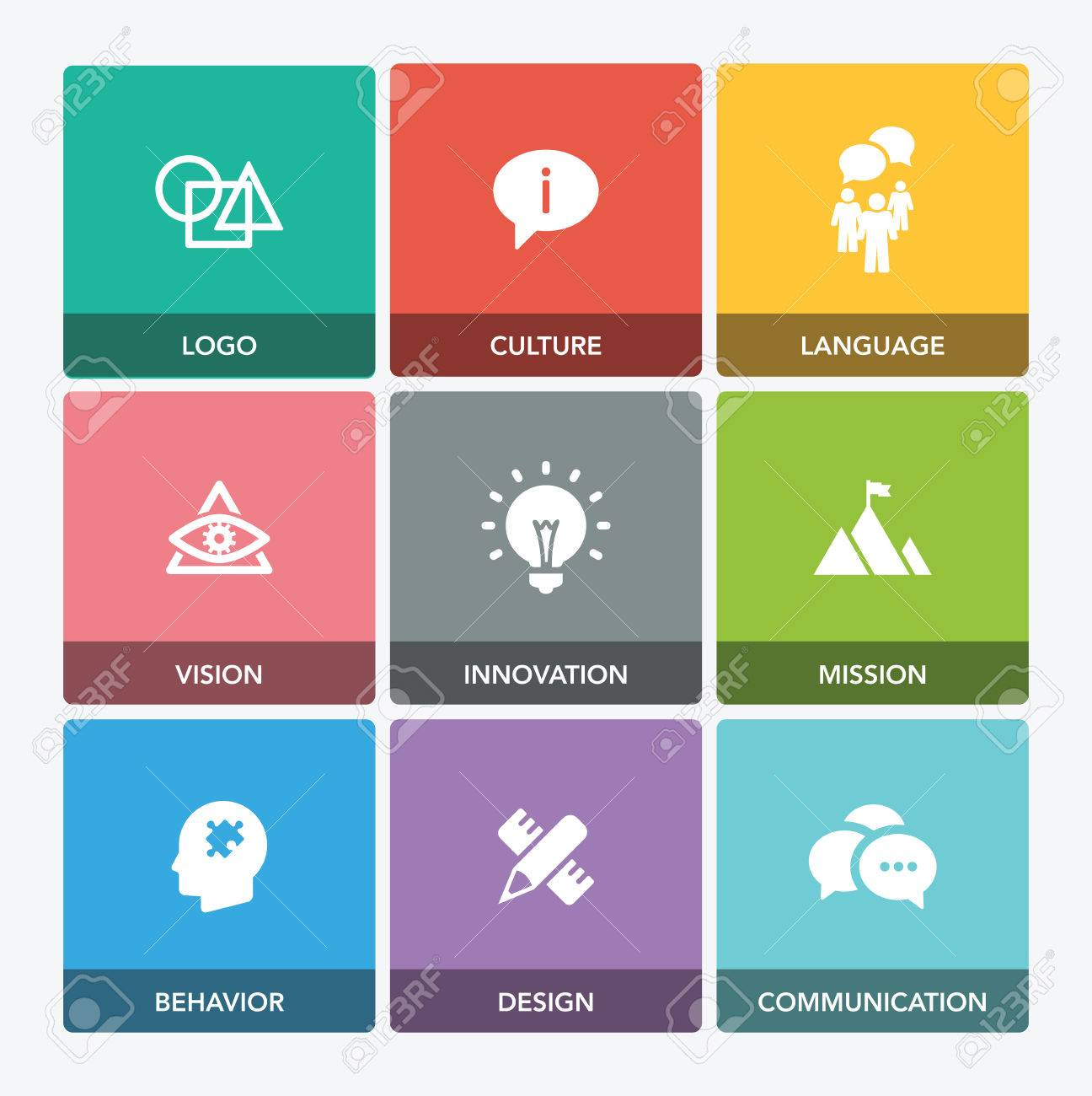 corporate identity icon set royalty free cliparts vectors and stock illustration image 73635256 123rf com