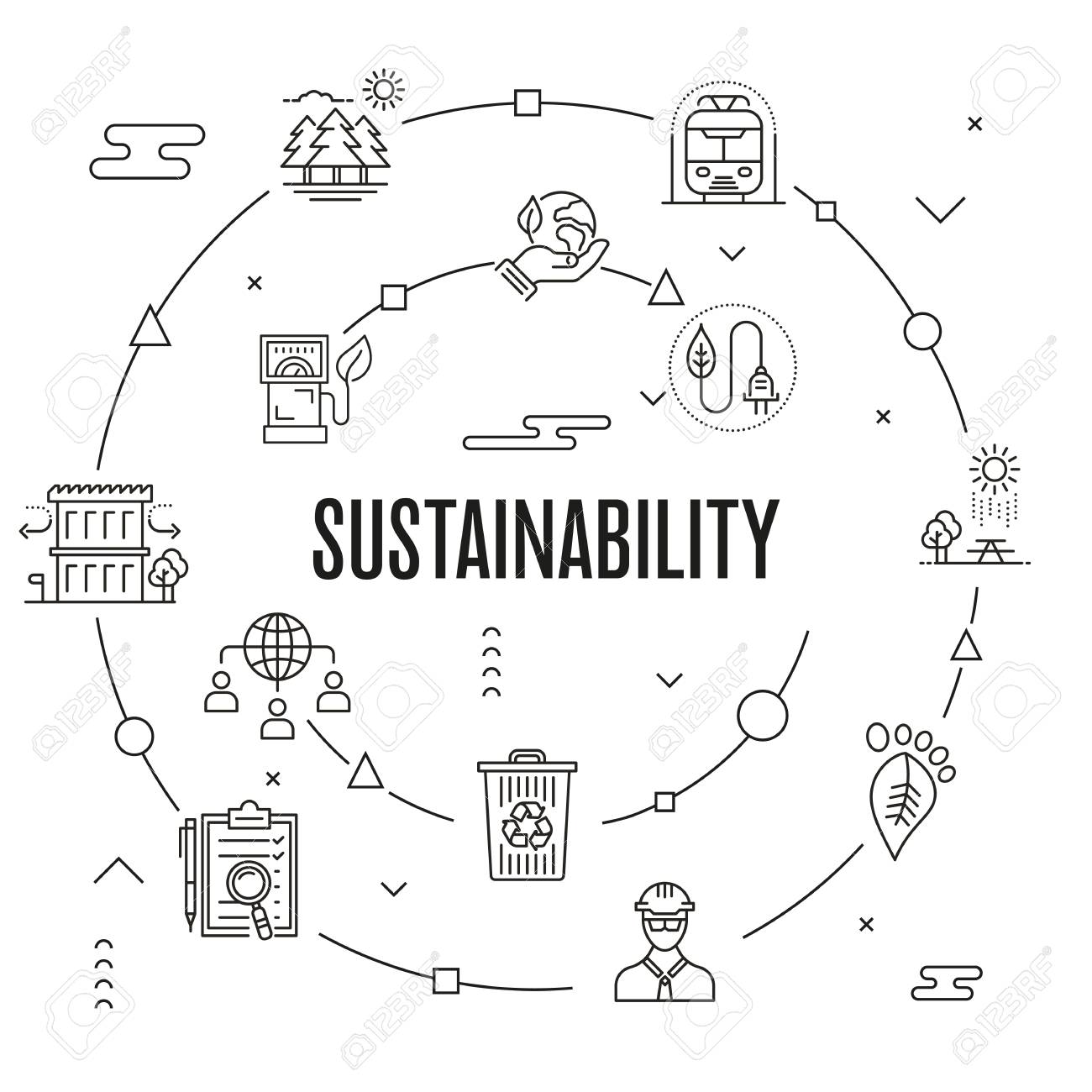 Sustainability Concept vector illustration. - 89675378