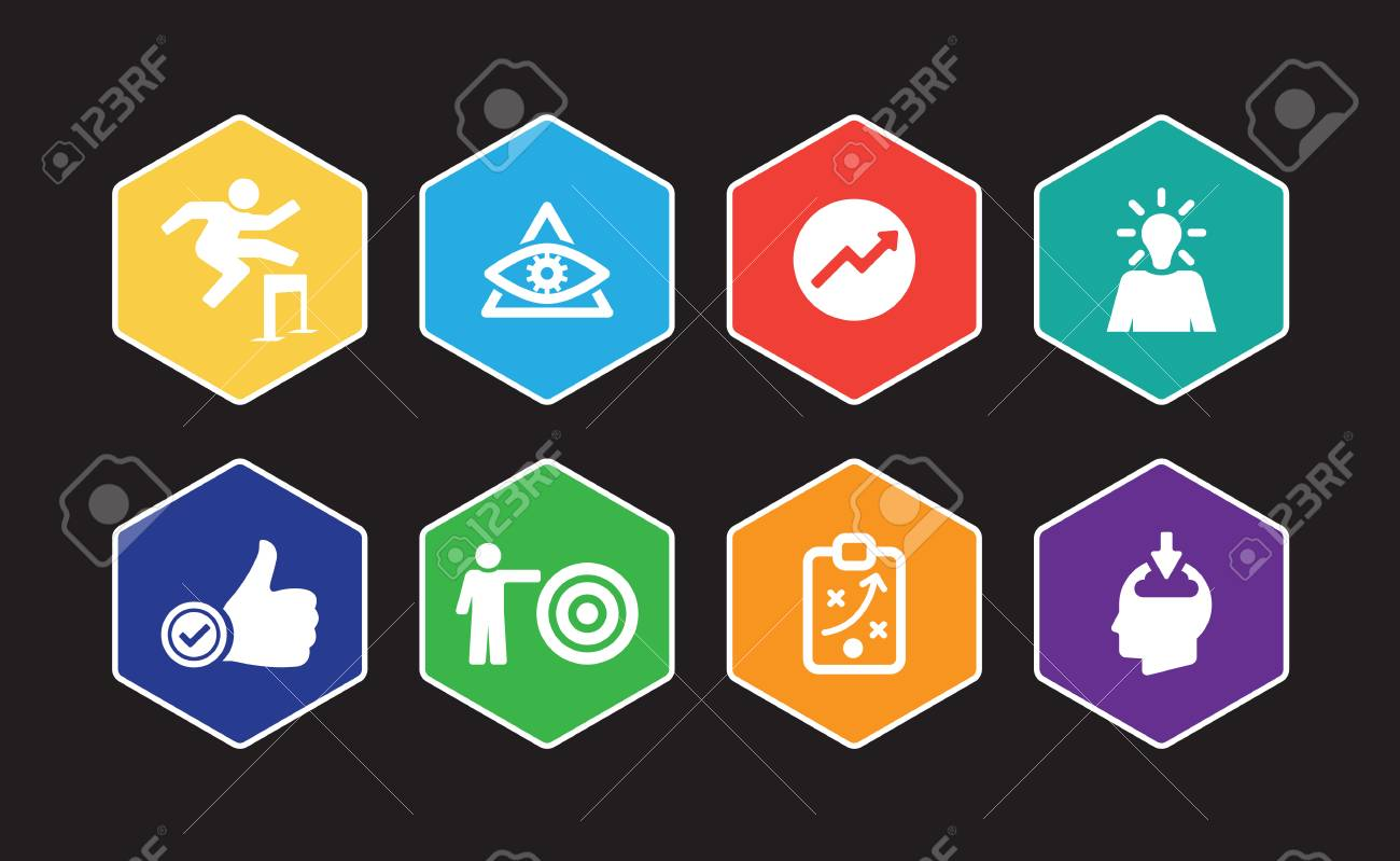 Personal Growth Infographic Icon Set Royalty Free Cliparts Vectors