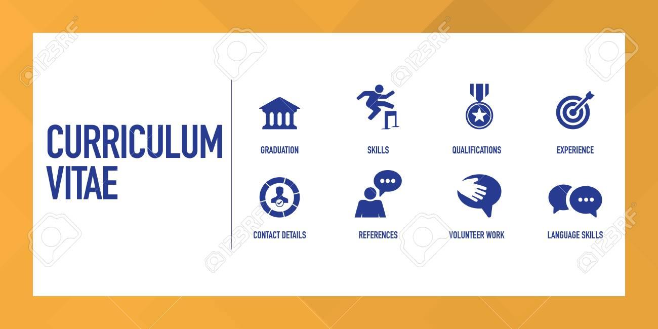 curriculum vitae infographic icon set stock vector 102789733