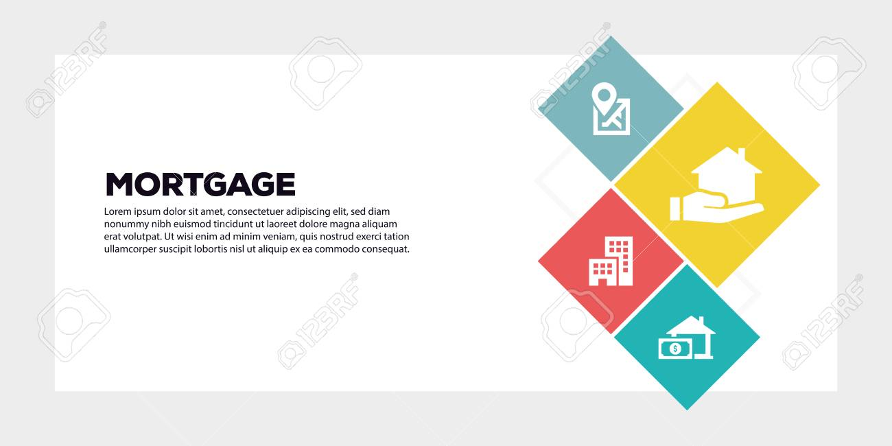 Mortgage Banner Concept Royalty Free Cliparts Vectors And Stock Illustration Image 119181461