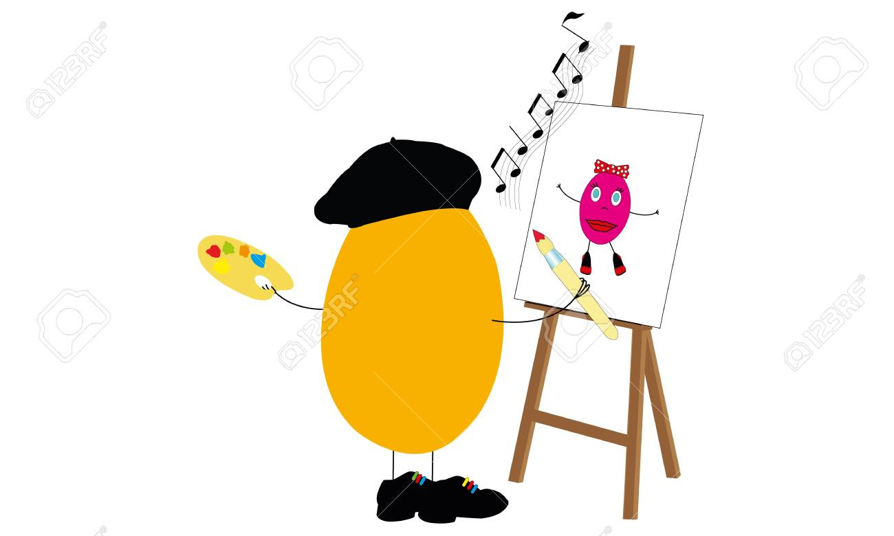 painter egg easter Stock Vector - 19757438