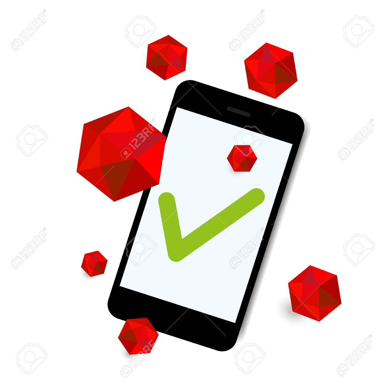 virus attack smart phone background - 31425844