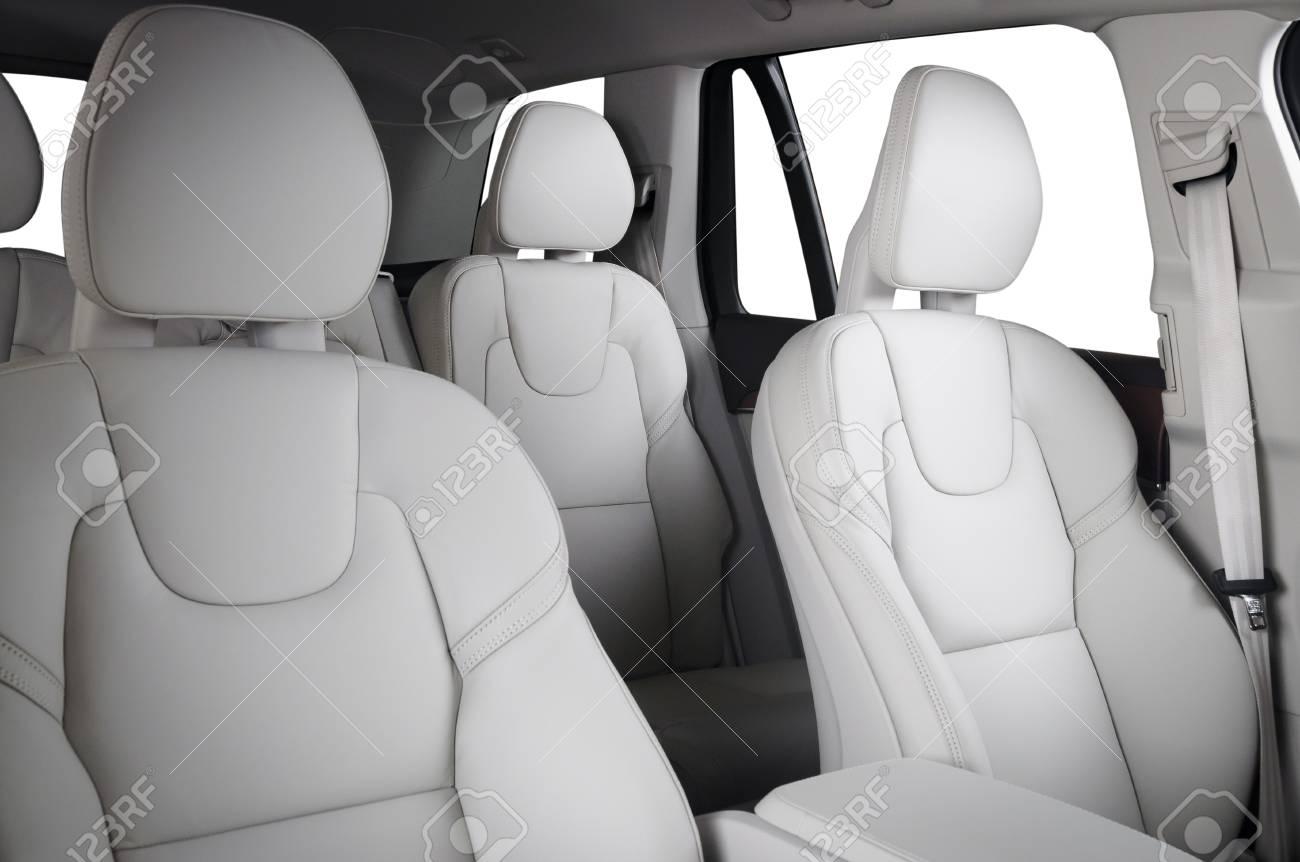 Luxury Car Inside Interior Of Prestige Modern Car Comfortable