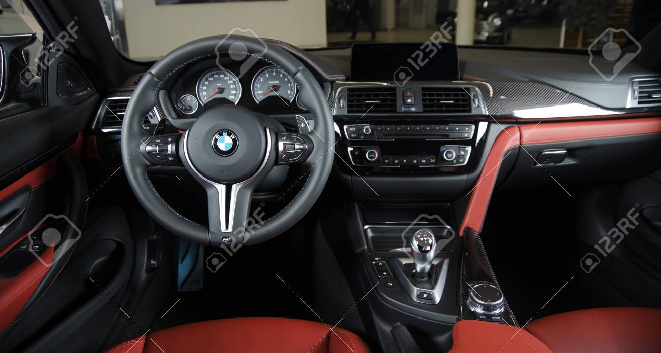 Sankt Petersburg Russia January 30 2017 Bmw M4 Car Interior Stock Photo Picture And Royalty Free Image Image 137284399
