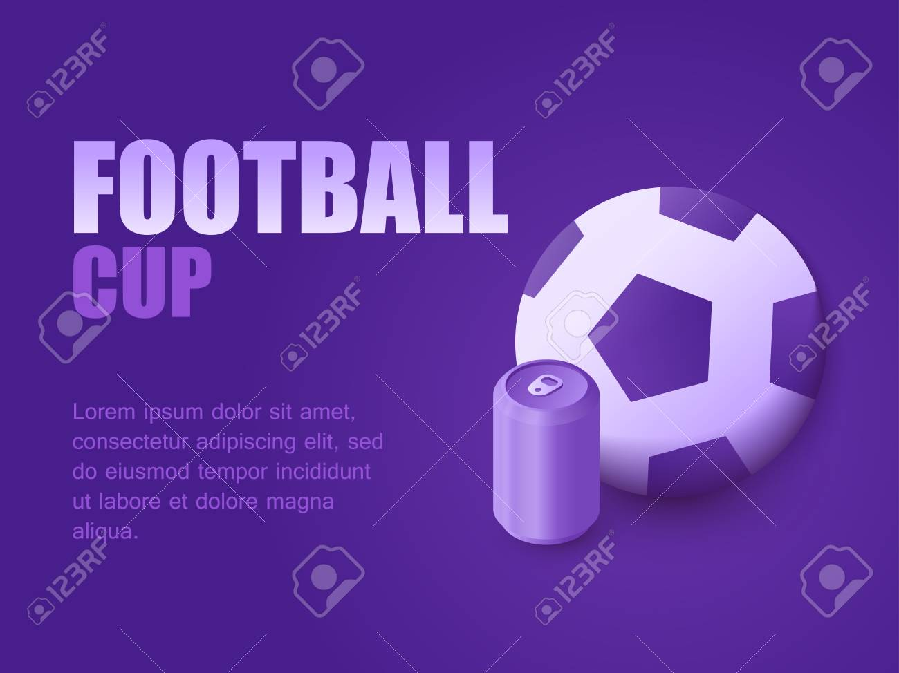 Graphic Design Background Perspective Football Game Live Vector