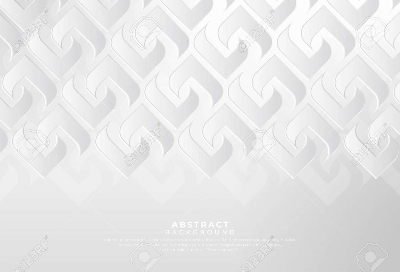 Modern white gray abstract background creative design. Abstract light silver vector, luxury texture used in cover design, book, poster, advertising. Vector illustration - 168288995