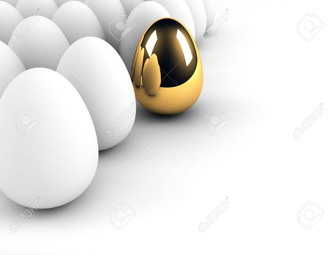 golden egg concept out of the crowd Stock Photo - 6563686