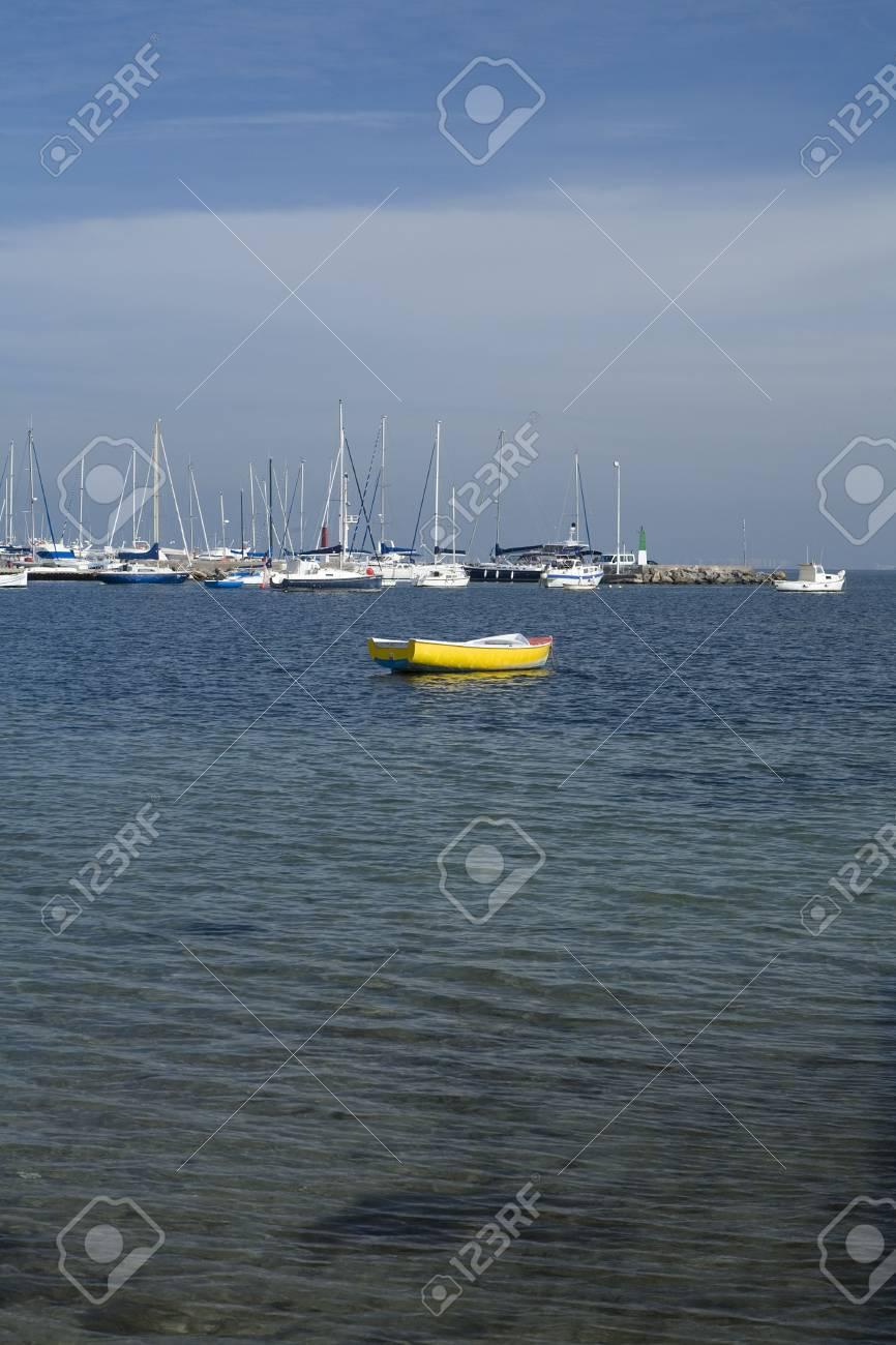 A boat marina in Los Alcazares, Murcia. Spain. Stock Photo - 6080990