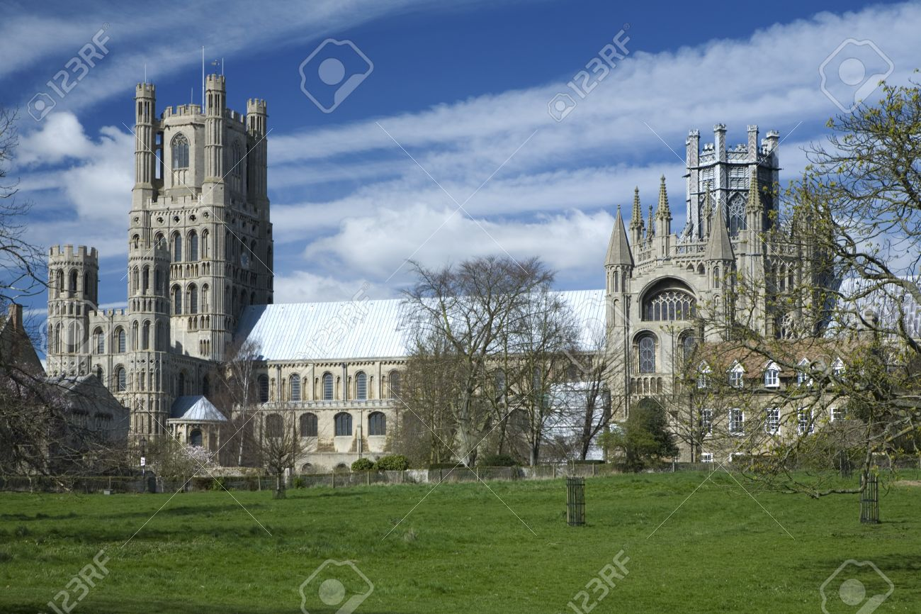 Ely Cathedral in the City of Ely, Cambridgeshire Uk Stock Photo - 9103168