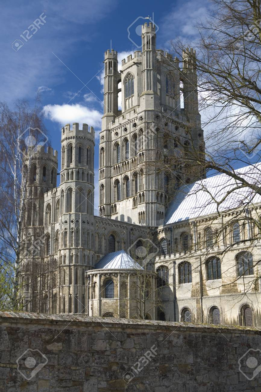 Ely Cathedral in the City of Ely, Cambridgeshire Uk Stock Photo - 9103172