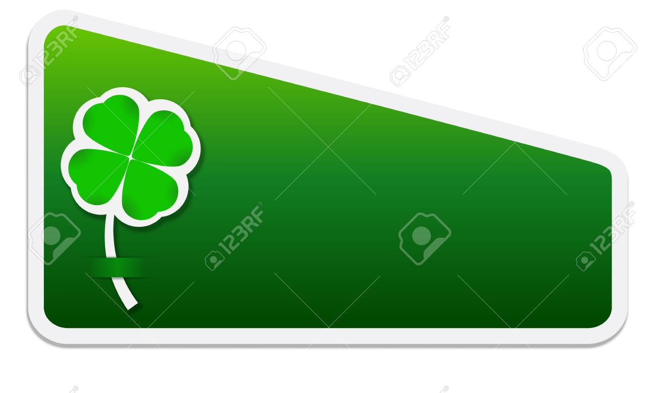 box for text and cloverleaf Stock Vector - 21829462