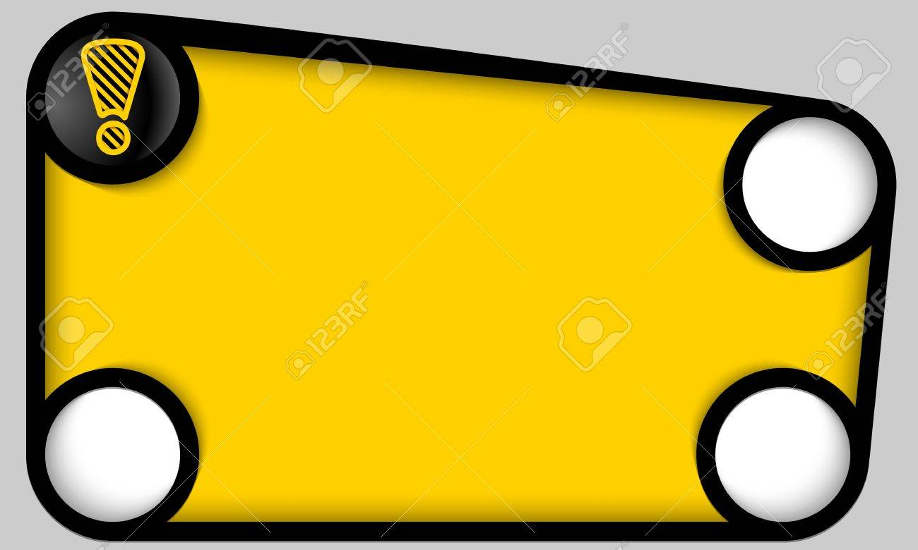 abstract yellow frame with alert icon Stock Vector - 22092542