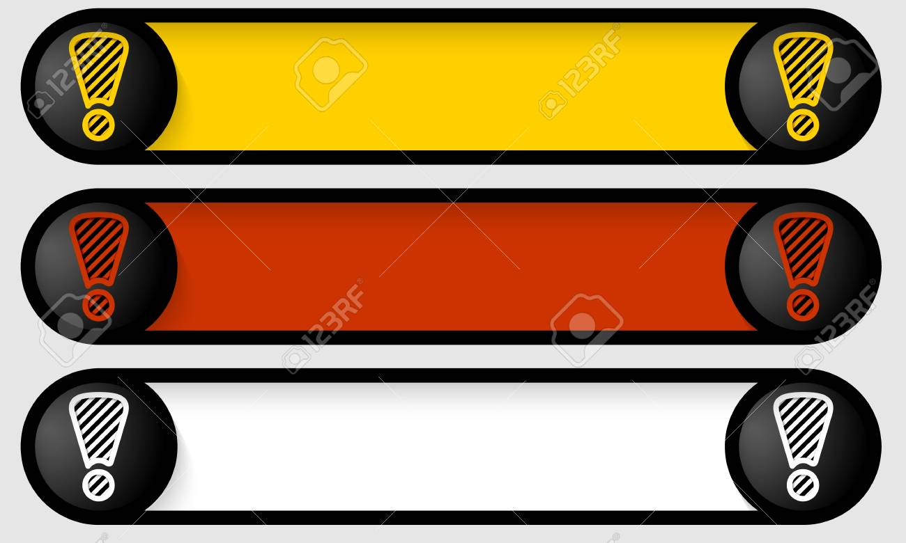 set circular frames with exclamation marks Stock Vector - 22162356