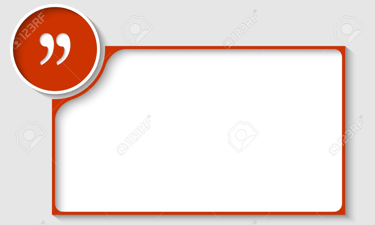 Red Text Frame With Quotation Mark Royalty Free Cliparts, Vectors ...