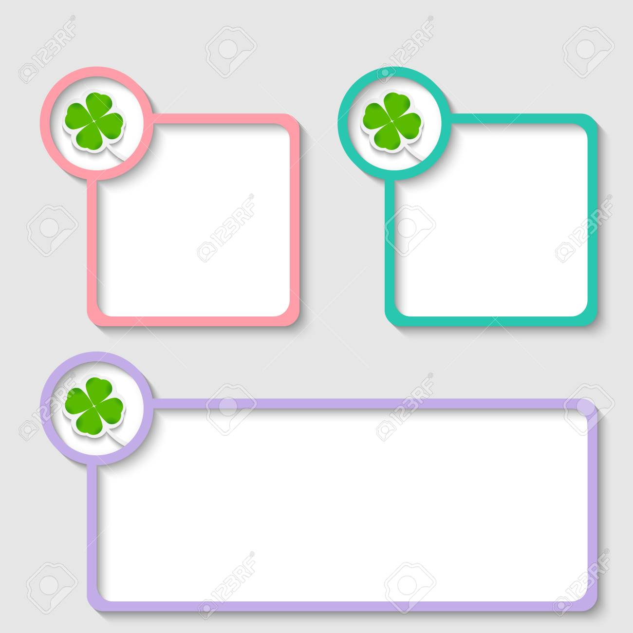 colored frame for any text with cloverleaf Stock Vector - 22706350