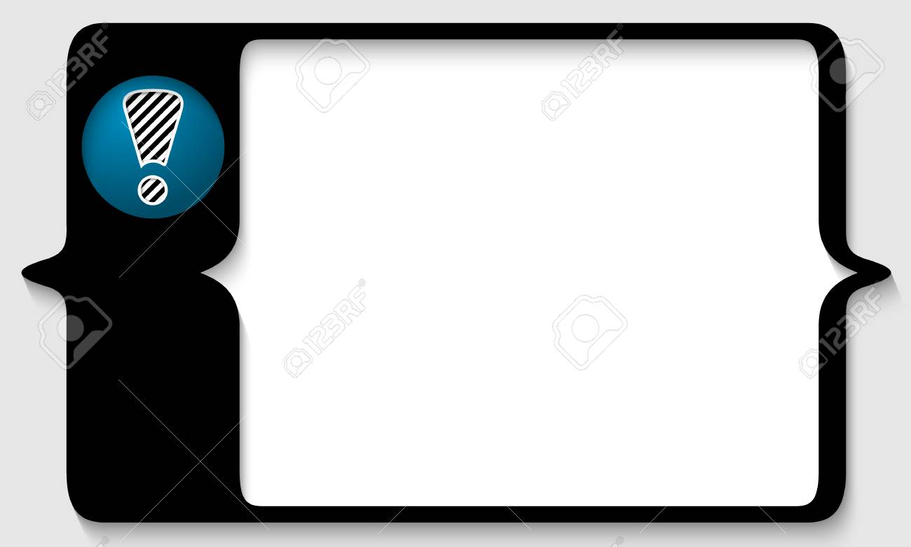vector box for any text with exclamation mark Stock Vector - 23462434