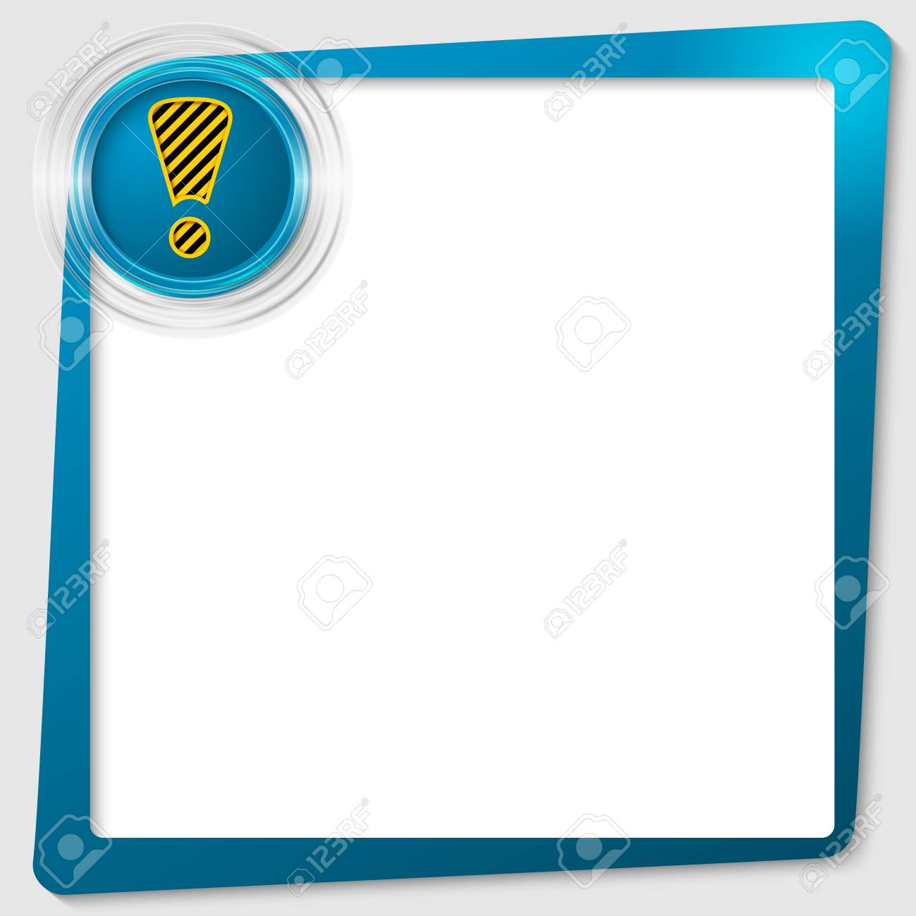 blue text frame and transparent circles with exclamation mark Stock Vector - 23462444