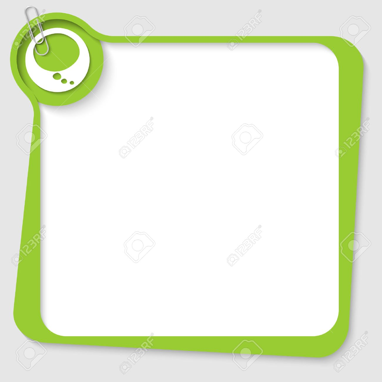 Blank Text Message Bubble Vector - green blank text box