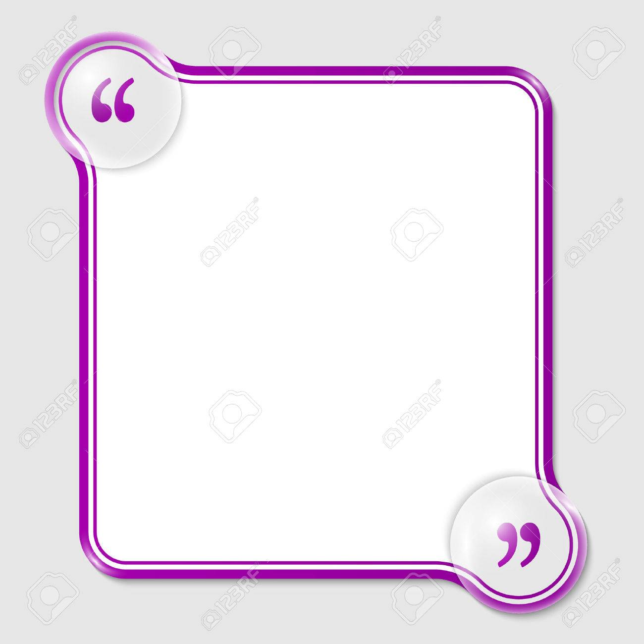 Purple Double Frame For Any Text With Quotation Mark Royalty Free ...