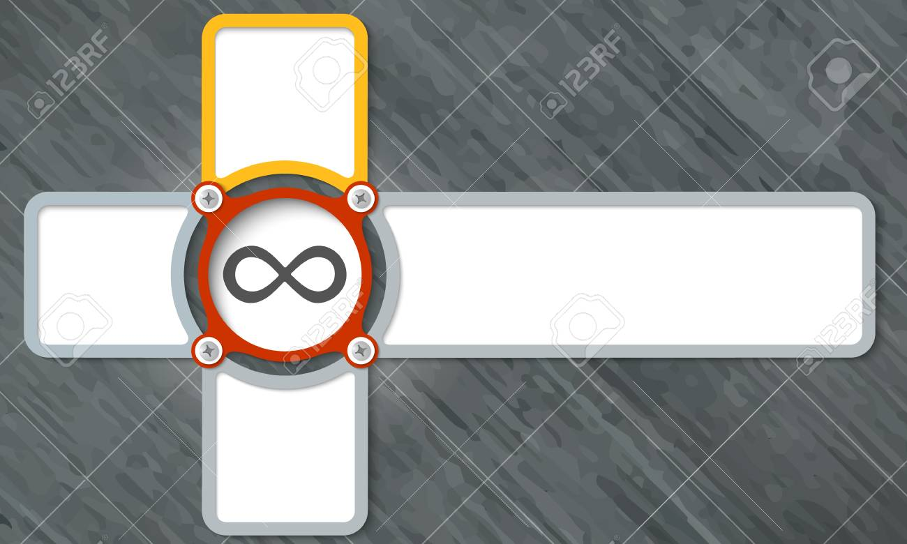 Four Frame For Any Text With Infinity Symbol Royalty Free Cliparts ...