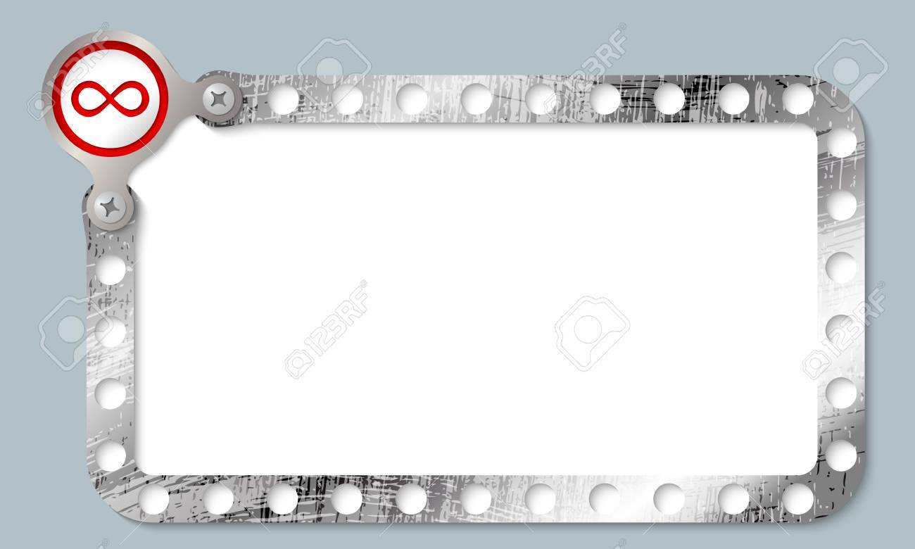 Metal Frame For Any Text With Infinity Symbol Royalty Free Cliparts ...