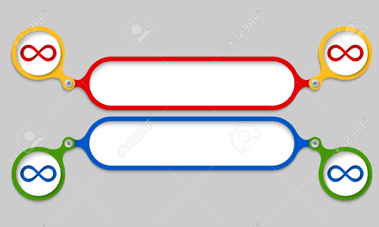 Colored Frames Joined By A Bolt And Infinity Symbol Royalty Free ...