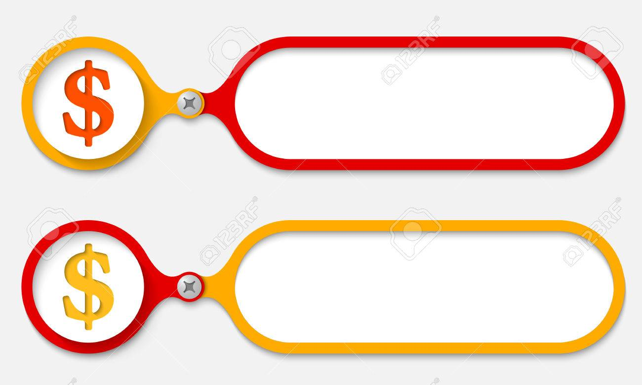Two Frames Joined By A Bolt And Dollar Symbol Royalty Free Cliparts ...