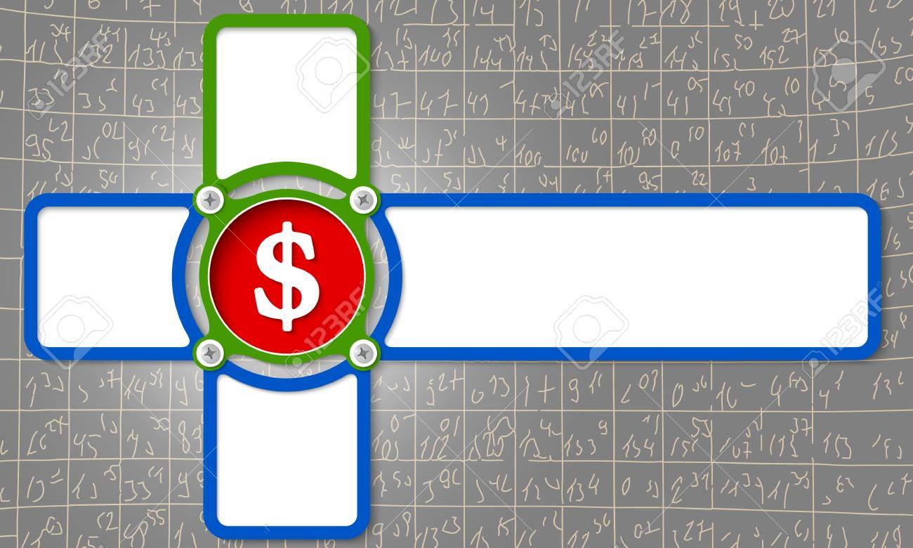 Cuatro Marco Para Cualquier Texto Con El Símbolo Del Dólar ...