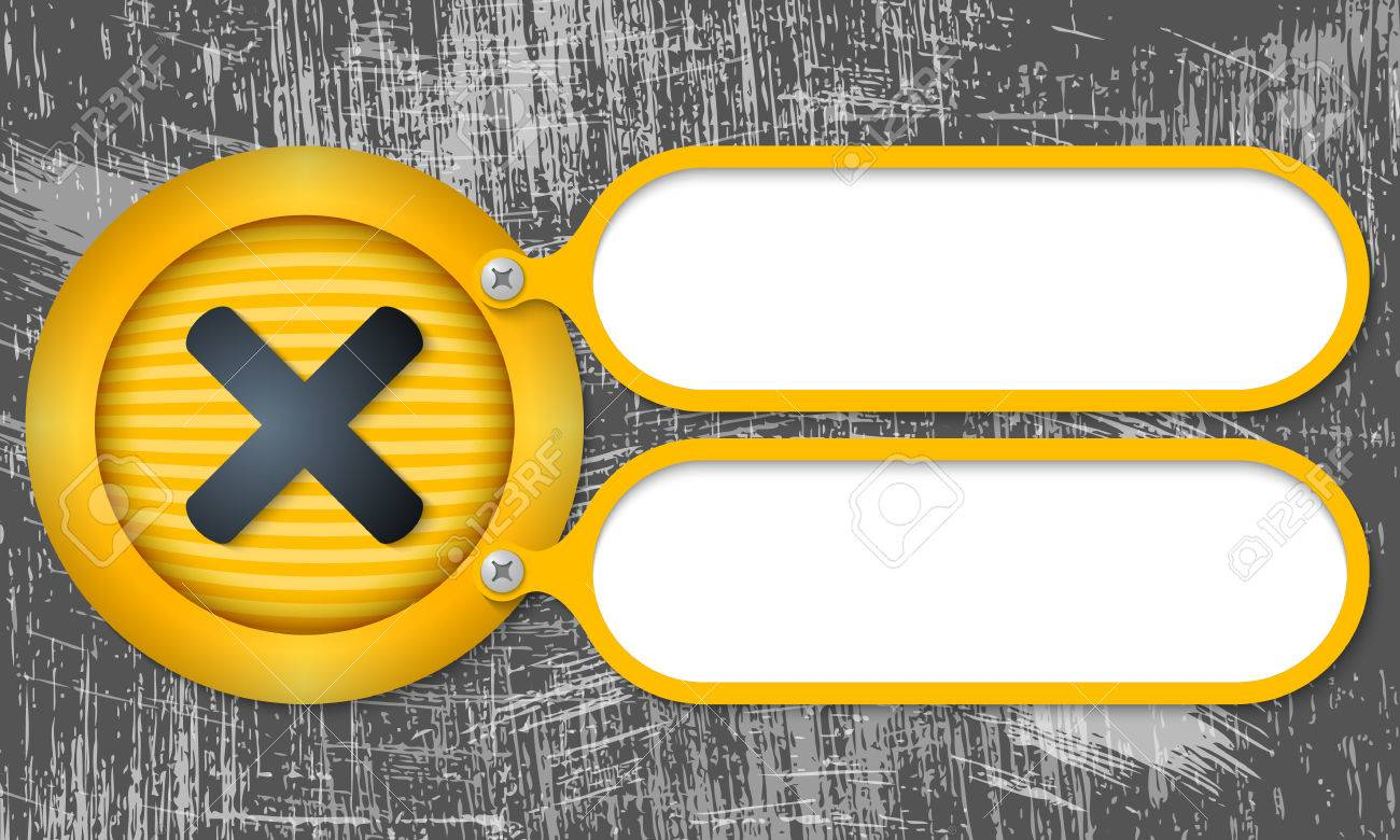 Yellow Frames With Multiplication Symbol And Scratched Background ...